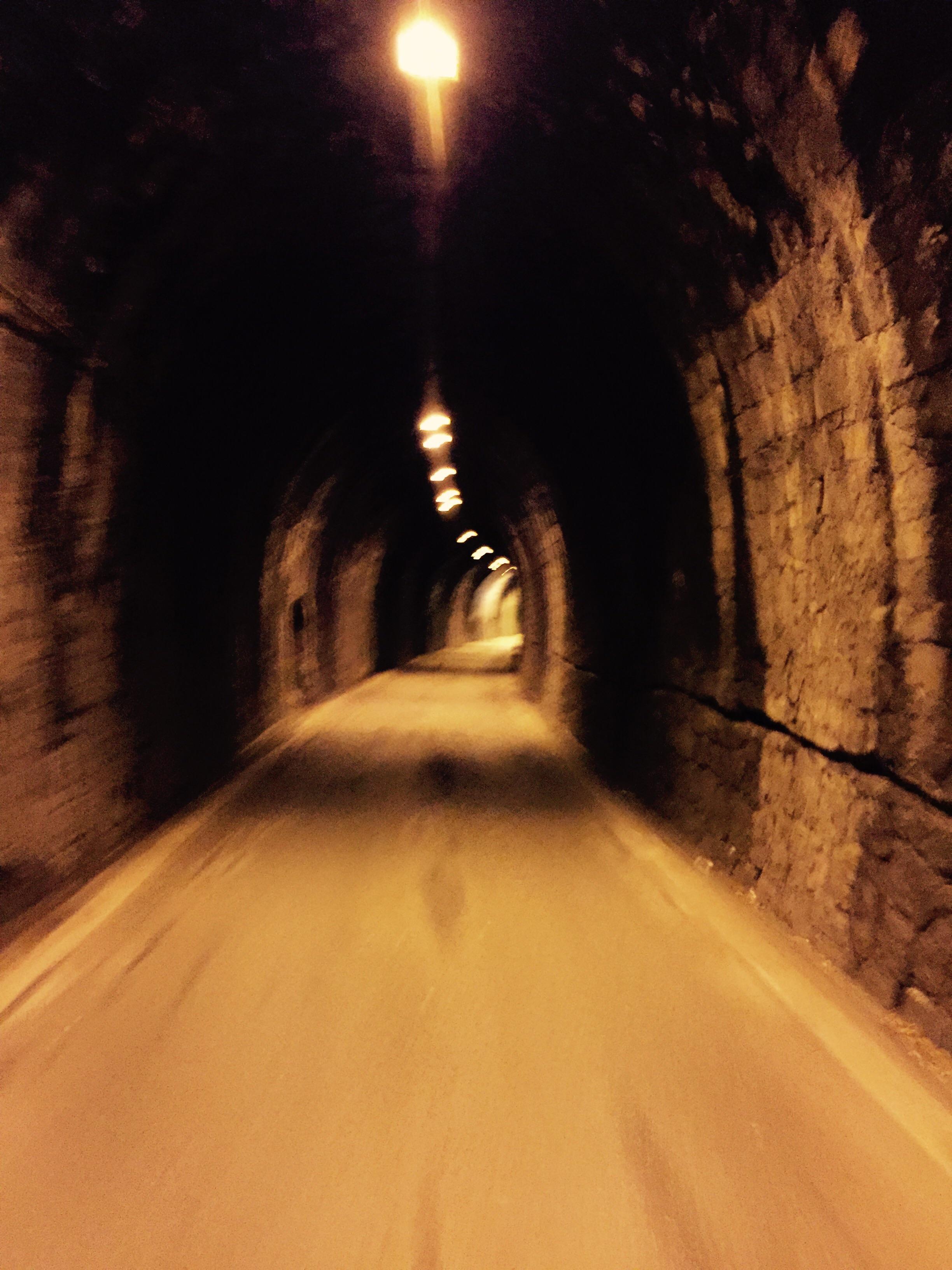 Hell tunnel of Moneglia