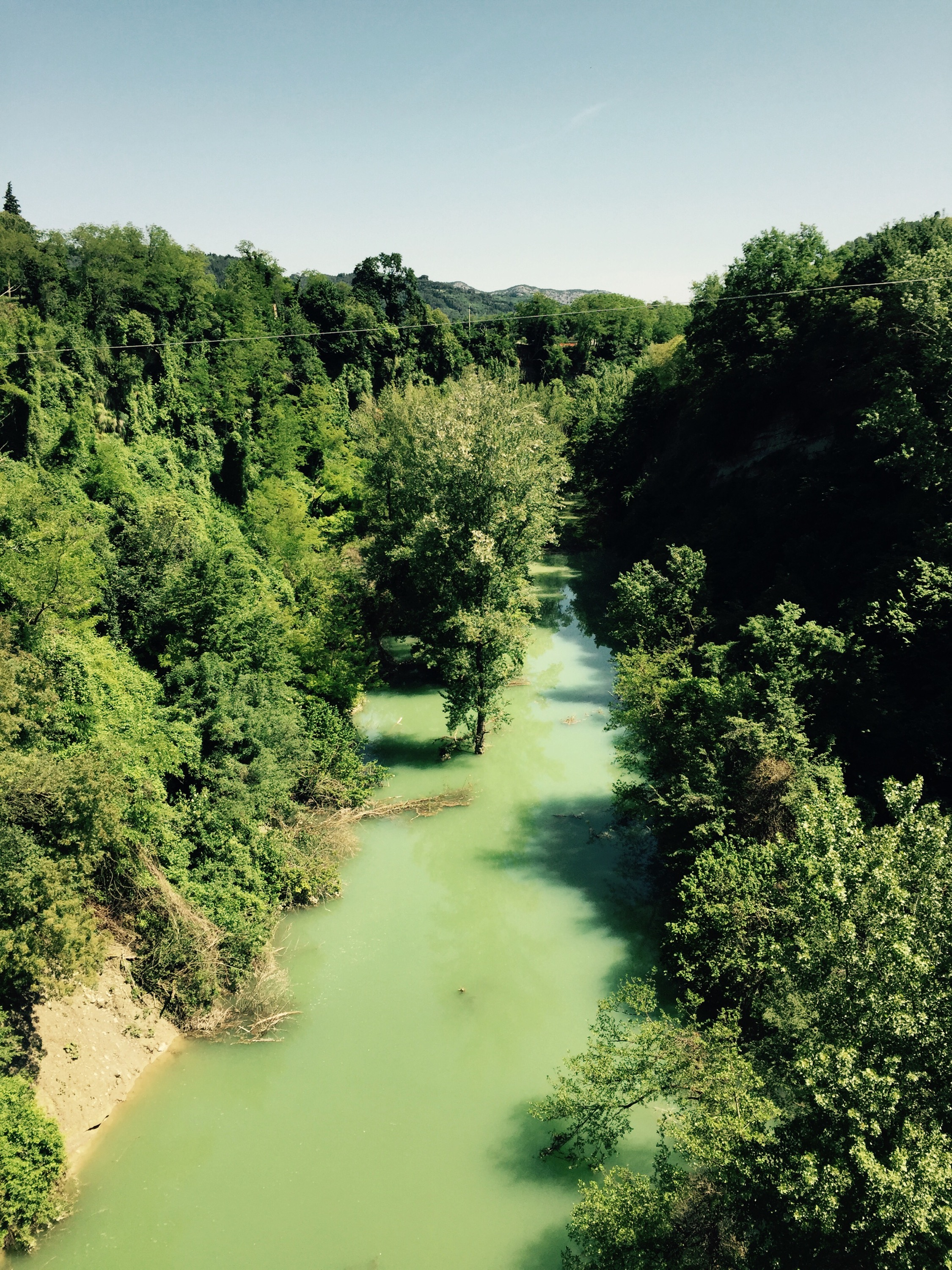 The Fiume Senio river, Italy