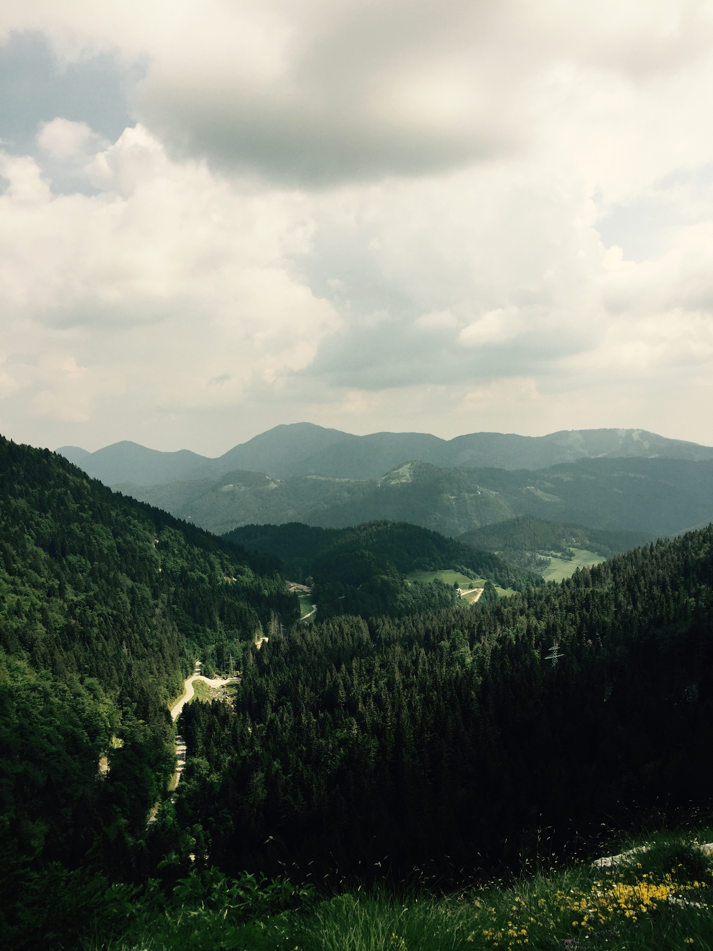 Valley down to Spodnja Sorica