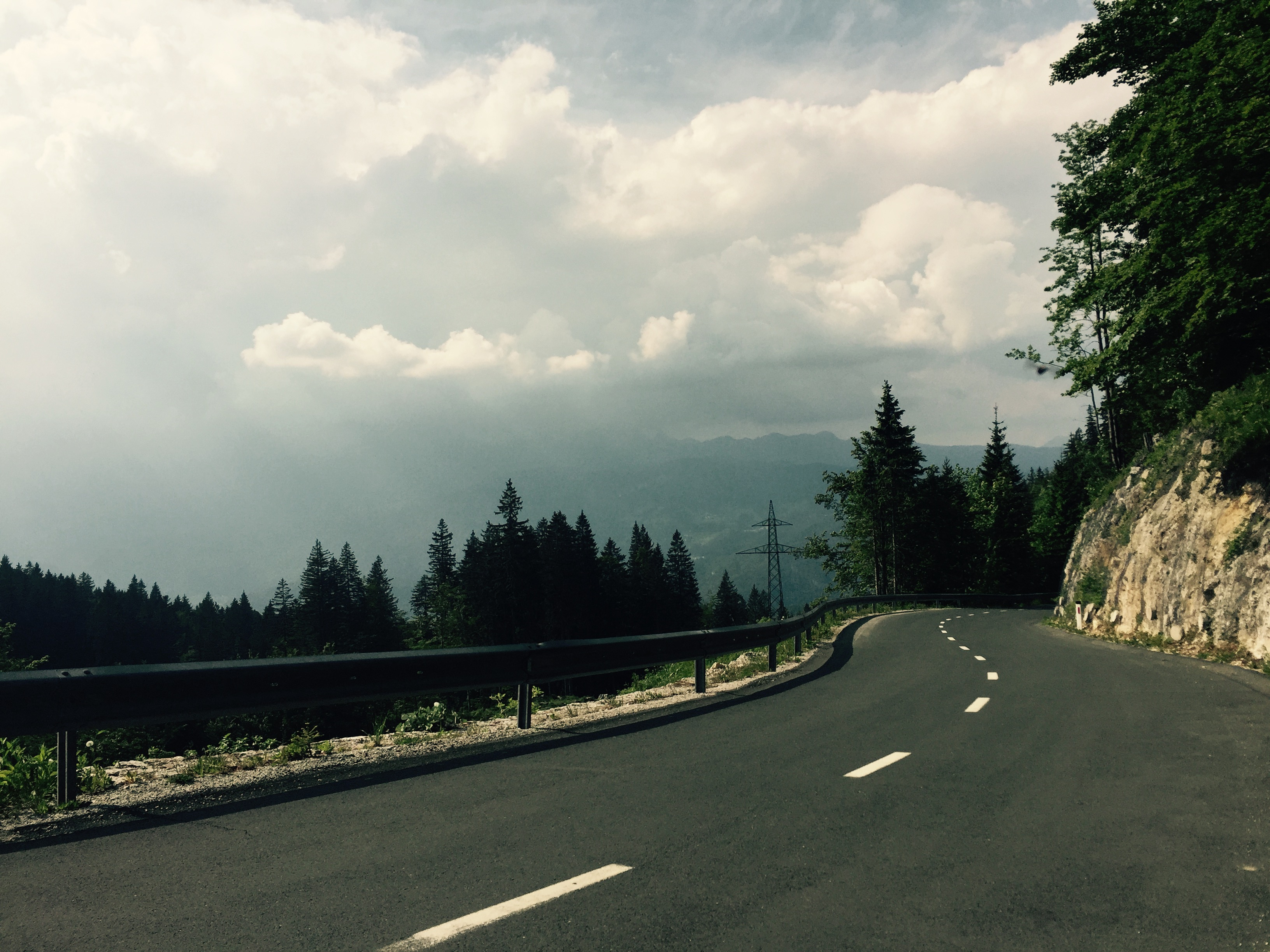 Road down to Bohinjska Bistrica
