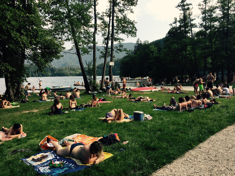 Lakeside beach, Bled