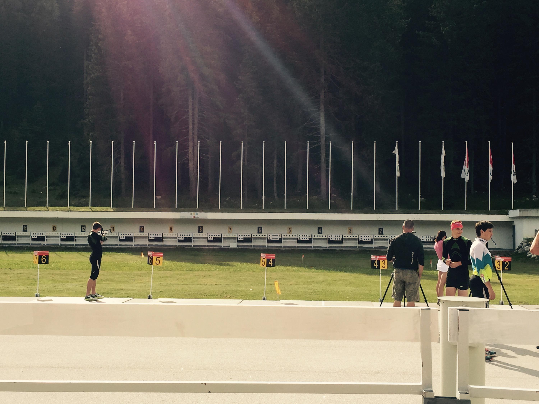 Pokljuka biathlon shooting range