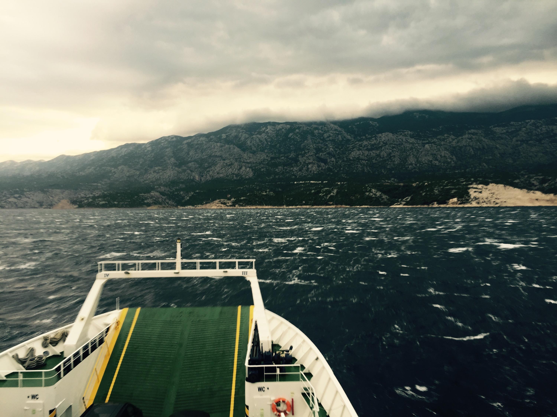Island of Rab crossing to the Croatian mainland