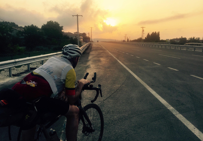 Gareth Bains, sunrise following the Transcontinental, Turkey